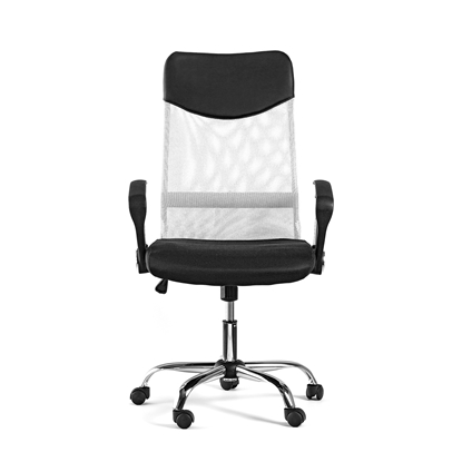 Picture of Directors chair Monti HB, upholstery, eco-leather and mesh, black seat, white backrest