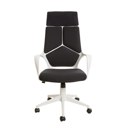 Picture of Force White Director s Chair, black upholstery
