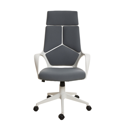 Picture of Force White Director s Chair, grey upholstery