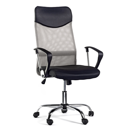 Picture of Monti HB Director s Chair, mesh, upholstery and eco-leather, black seat, silver back
