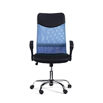 Picture of Monti HB Director s Chair, mesh, upholstery and eco-leather, black seat, grey back