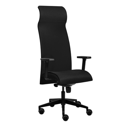 Picture of Tronhill Solium Executive Ergonomic Chair, mesh and upholstery, black