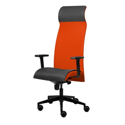 Picture of Tronhill Solium Executive Ergonomic Chair, mesh and upholstery, red