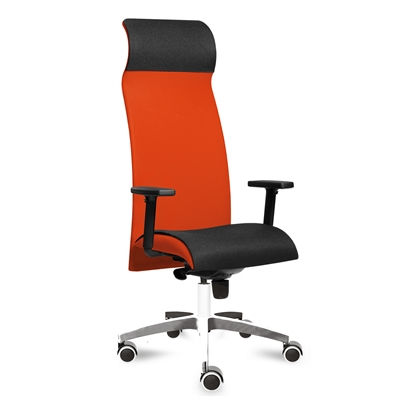 Picture of Tronhill ergonomic chair Solium Executive Lux, damask and mesh, orange
