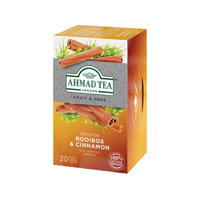 Picture of Ahmad Rooibos and Cinnamon Fruit and herb tea, 1.5 g, in sachets, 20 pcs.