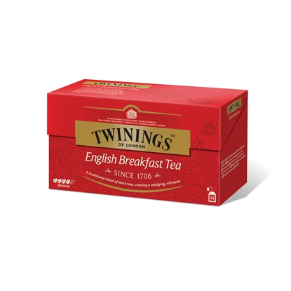 "Picture of Twinings Black tea ""English Breakfast"", 2 g, in sachets, 25 pcs."