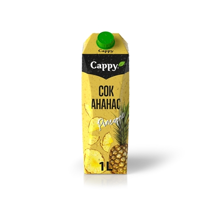 Picture of Cappy Pineapple Juice, 100%, 1 L, in a box