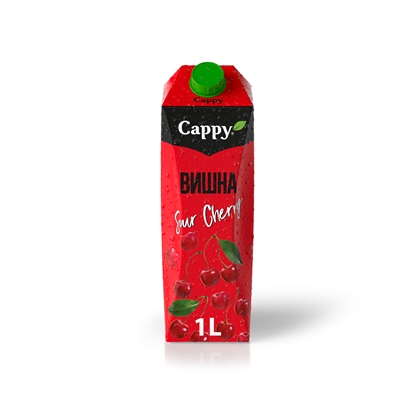 Picture of Cappy Sour Cherry Juice drink, 1 L, in a box