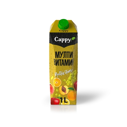 Picture of Cappy Multivitamin Juice drink, 1 L, in a box