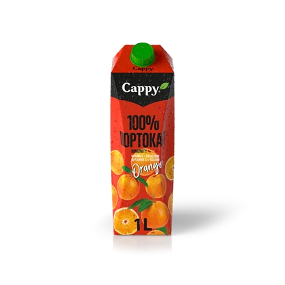 Picture of Cappy Orange Juice drink, 100%, 1 L, in a box