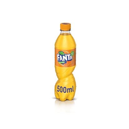 Picture of Fanta Orange Carbonated drink , 500 ml, in a plastic bottle