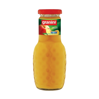 Picture of Granini natural juice, apricot, 0.25 L, in a glass bottle