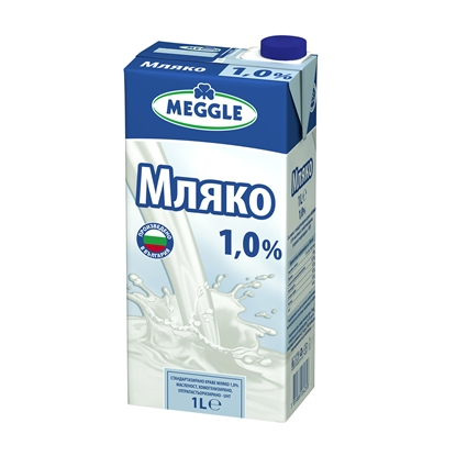 Picture of Meggle Milk 1.0%, 1 L, in a box
