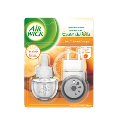 Picture of Air Wick Electric Air Freshener, anti-tobacco, with replacement, 19 ml