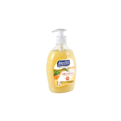 Снимка на Medix Течен сапун Cream Collection Milk & Honey, с помпа, 400 ml, оранжев