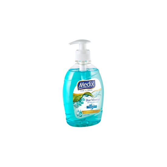 Picture of Medix Pure & Fresh Blue Mineral Liquid soap with pump dispenser, 400 ml, blue