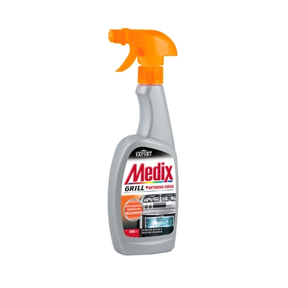 Picture of Medix soap for cleaning stoves and grills Expert Grill, active foam, with pump, 500 ml