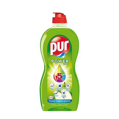 Picture of Pur Duo Power dishwashing detergent, apple, 450 ml
