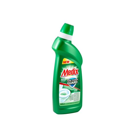 Picture of Medix Power Toilet bowl cleaner gel, pine, 500 ml, green