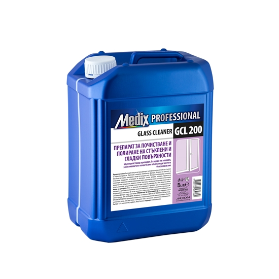 Picture of Medix Professional  Cleaning and polishing detergent for glass and smooth surfaces, GCL 200, 5 l