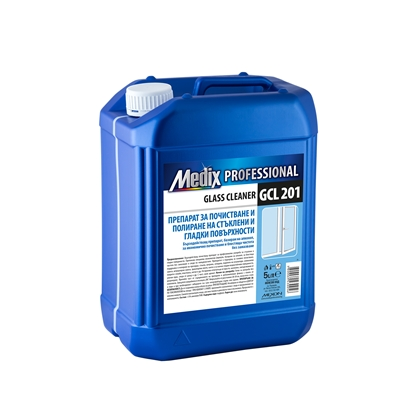 Picture of Medix Professional  Cleaning and polishing detergent for glass and smooth surfaces, GCL 201, 5 l