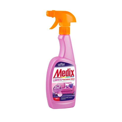 Picture of Medix soap for cleaning carpets and damasks Expert Carpets, active foam, with pump, 500 ml