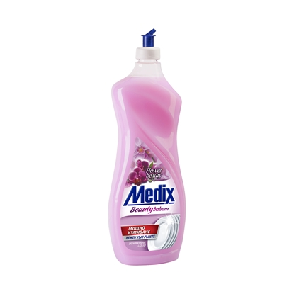 Picture of Medix Beauty Balsam Dishwashing detergent Flowers, 900 ml, pink