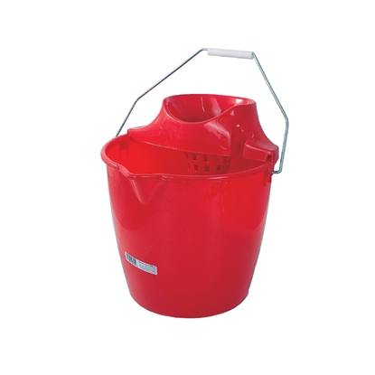 Picture of Plastic round bucket with wringer, 12 L