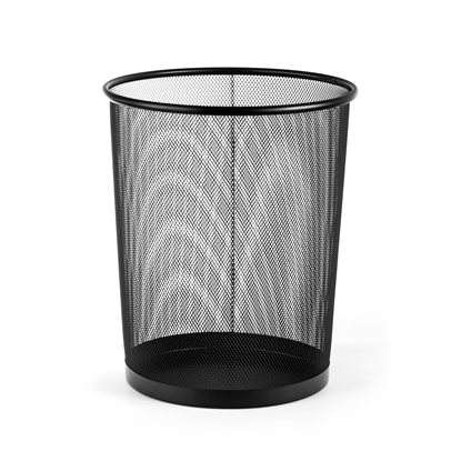 Picture of Fabio Waste-Paper Bin 20 L, mesh metal, black