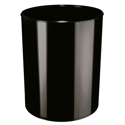 Picture of HAN Flame Resistant Waste-Paper Bin, 13 L, black