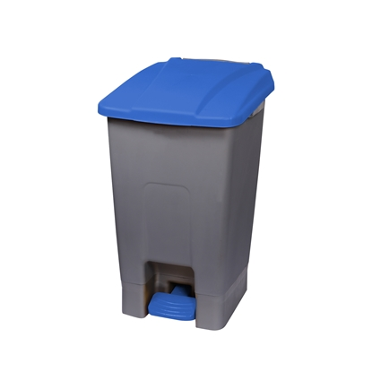 Picture of Dustbin Planet for separate waste collection, with pedal, plastic, 70 L, blue