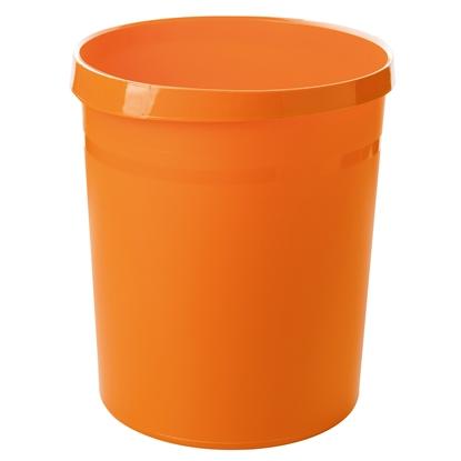 Picture of HAN Grip Trend Waste-Paper Bin, 18 L, plastic, orange