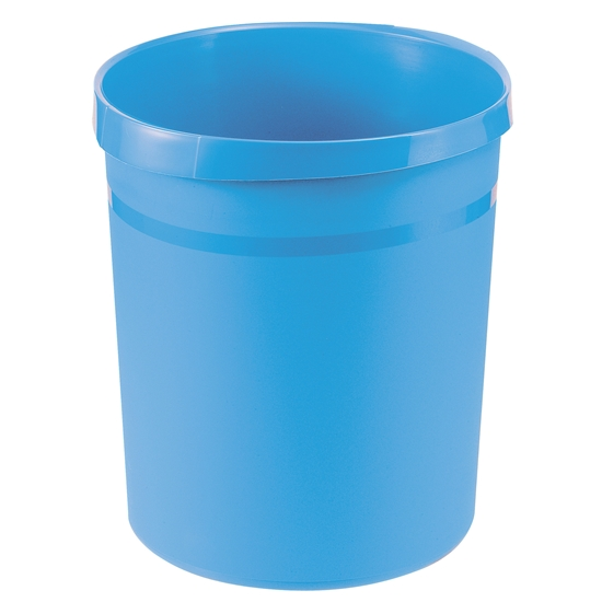Picture of HAN Grip Trend Waste-Paper Bin, 18 L, plastic, light blue
