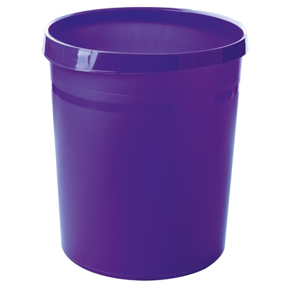Picture of HAN Grip Trend Waste-Paper Bin, 18 L, plastic, purple