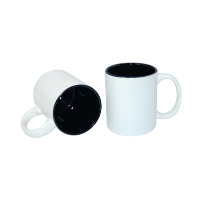 Picture of Cup, ceramic, white, with black inside