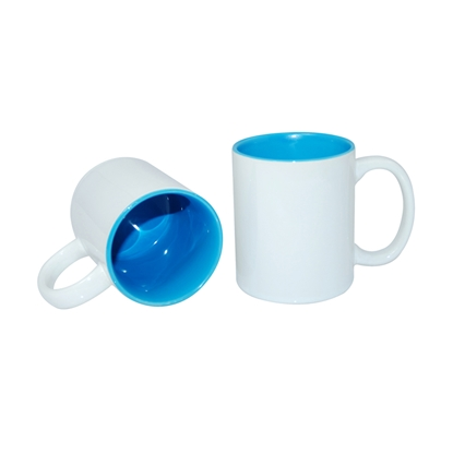 Picture of Cup, ceramic, white, with blue inside