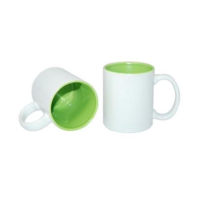 Picture of Cup, ceramic, white, with lightgreen inside