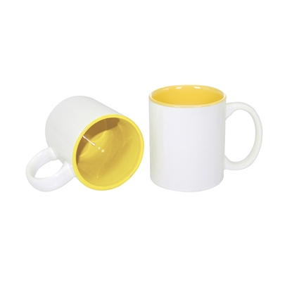Picture of Cup, ceramic, white, with yellow inside