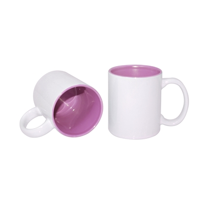 Picture of Cup, ceramic, white, with pink inside