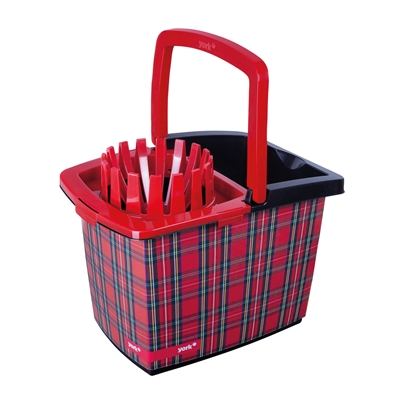 Picture of York Bucket Style, with wringer 15 L, red