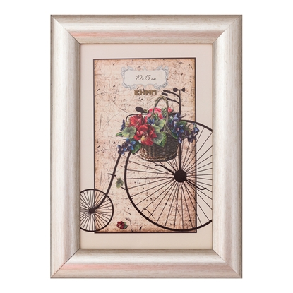 Picture of Frame, 10 x 15 cm, wide profile, grey