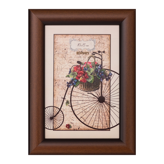 Picture of Frame, 10 x 15 cm, wide profile, brown