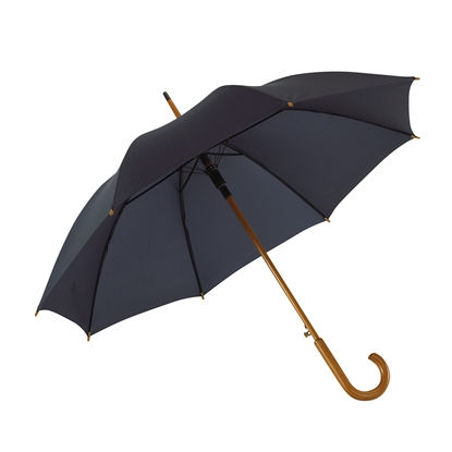Picture of TOPS Automatic wooden stick umbrella, navy blue