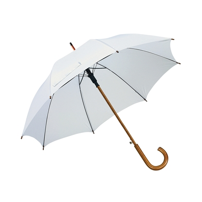 Picture of TOPS Automatic wooden stick umbrella, white