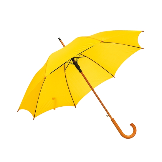 Picture of TOPS Automatic wooden stick umbrella, yellow