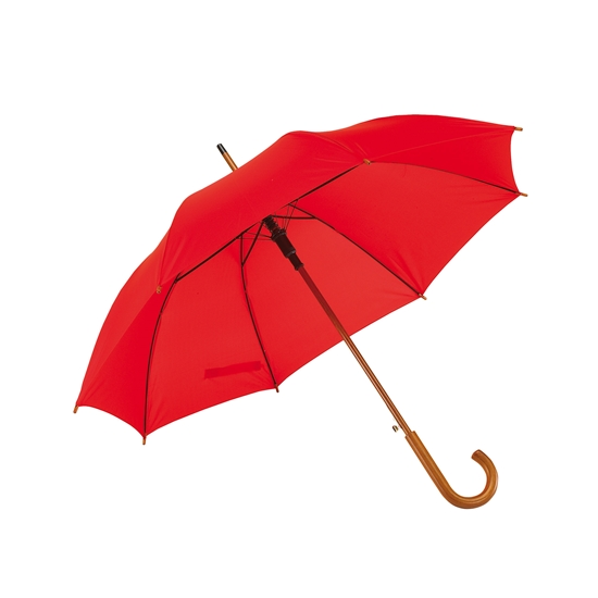 Picture of TOPS Automatic wooden stick umbrella, red