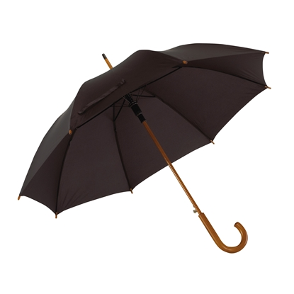 Picture of TOPS Automatic wooden stick umbrella, black