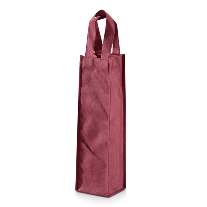 Picture of Hi!dea pouch for wine, for 1 bottle, textile, red