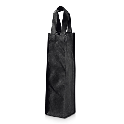 Picture of Hi!dea pouch for wine, for 1 bottle, textile, black
