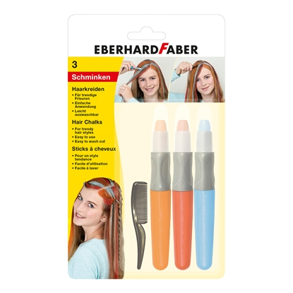 Picture of Eberhard Faber pastels for hair Basic, 3 colors